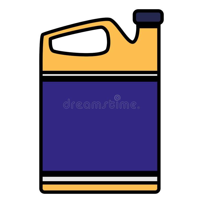 Symbol för oljagal.motor stock illustrationer