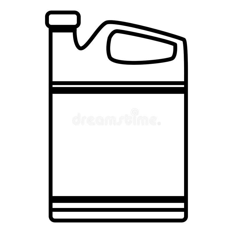 Symbol för oljagal.motor royaltyfri illustrationer