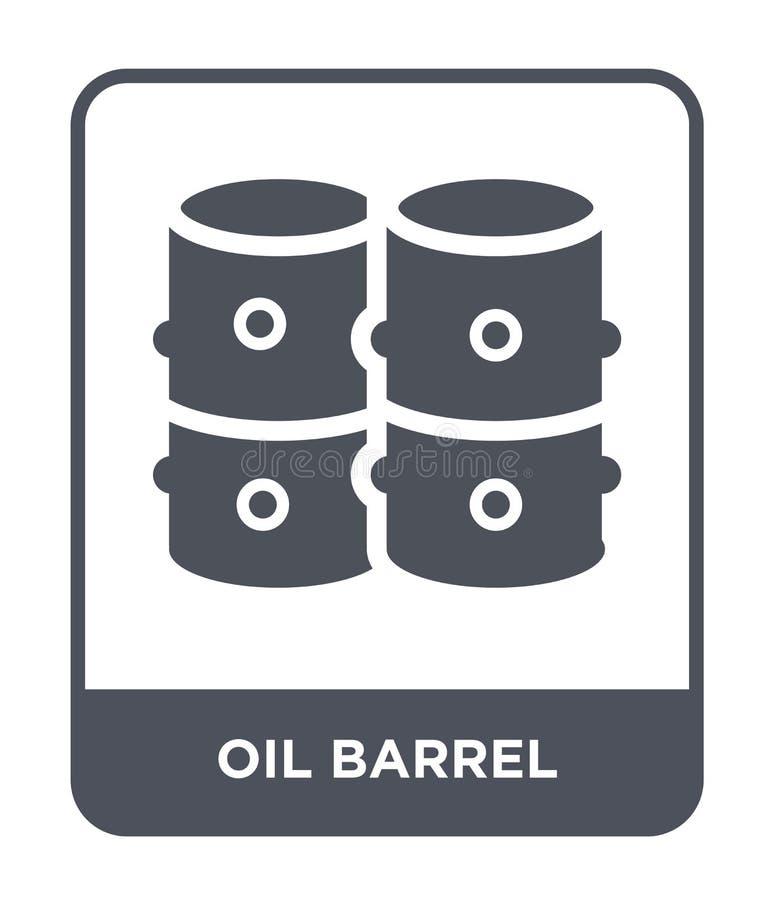 symbol för oljatrumma i moderiktig designstil symbol för oljatrumma som isoleras på vit bakgrund modern symbol för vektor för olj vektor illustrationer