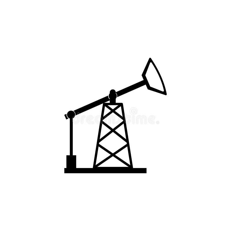 Symbol för olje- pump royaltyfri illustrationer