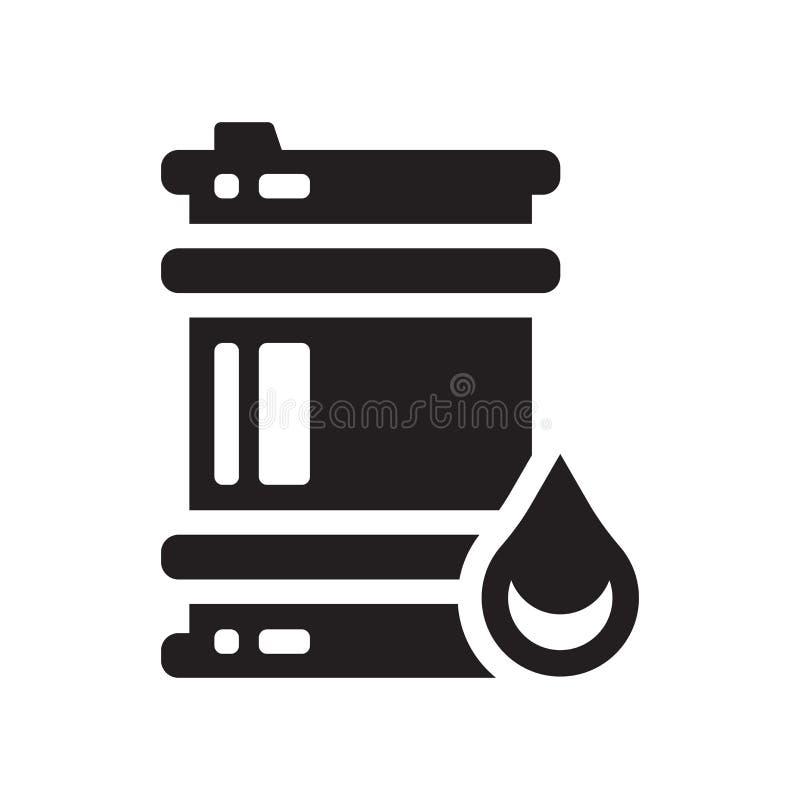 Symbol för olje- trumma  stock illustrationer