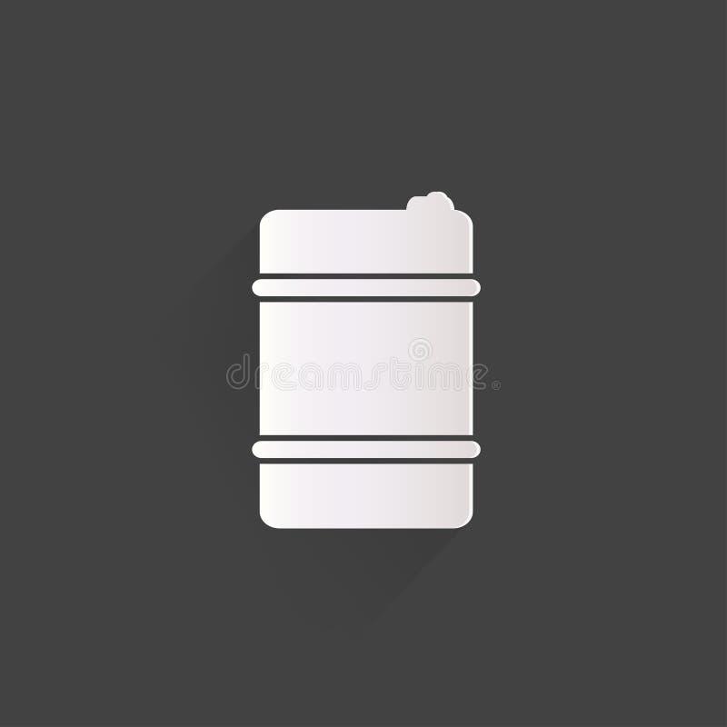 Symbol för olje- trumma royaltyfri illustrationer