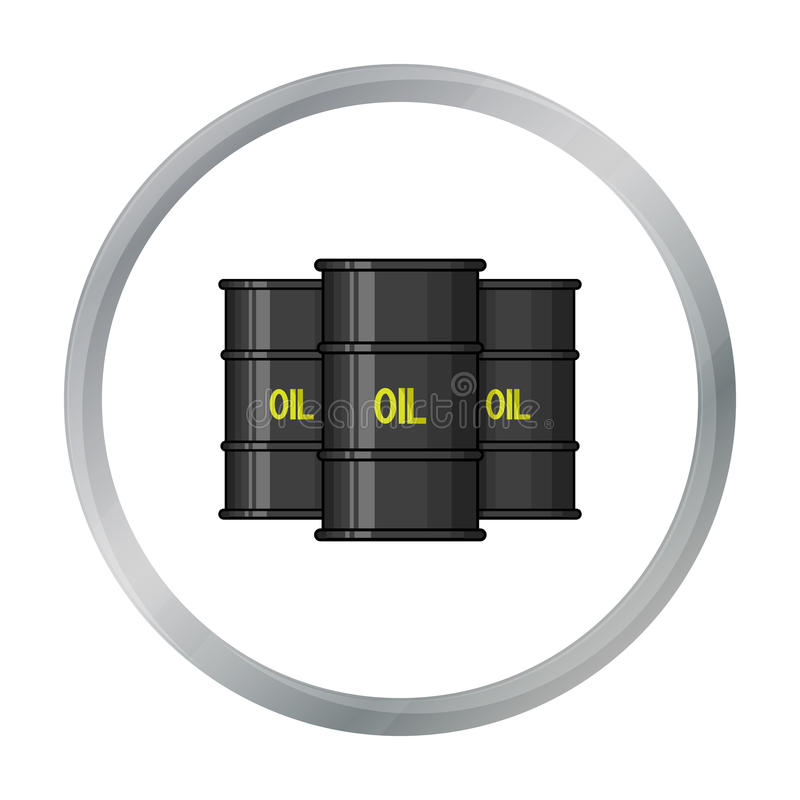 Symbol för olje- trumma i tecknad filmstil som isoleras på vit bakgrund Pengar och finanssymbol stock illustrationer