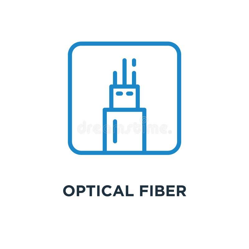 symbol för optisk fiber på den vita begreppssymboldesignen vektorillus vektor illustrationer