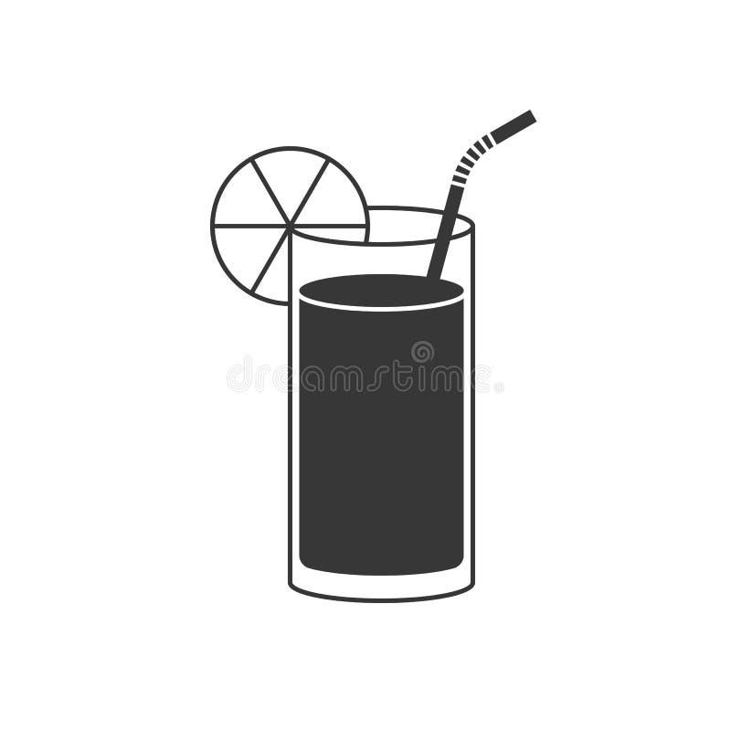 Symbol för orange fruktsaft eller lemonad stock illustrationer