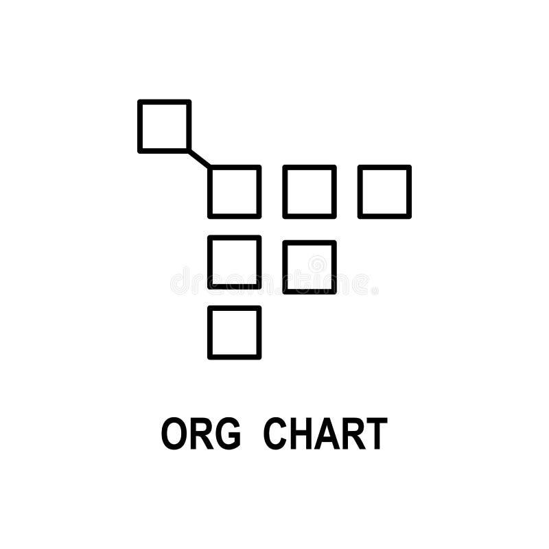 Symbol för organisatoriskt diagram Beståndsdel av affärsstruktursymbolen för mobila begrepps- och rengöringsdukapps Tunn linje sy royaltyfri illustrationer