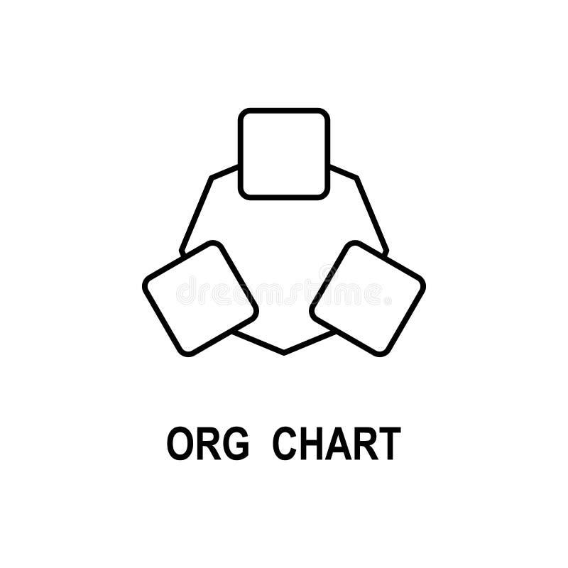 Symbol för organisatoriskt diagram Beståndsdel av affärsstruktursymbolen för mobila begrepps- och rengöringsdukapps Tunn linje sy vektor illustrationer
