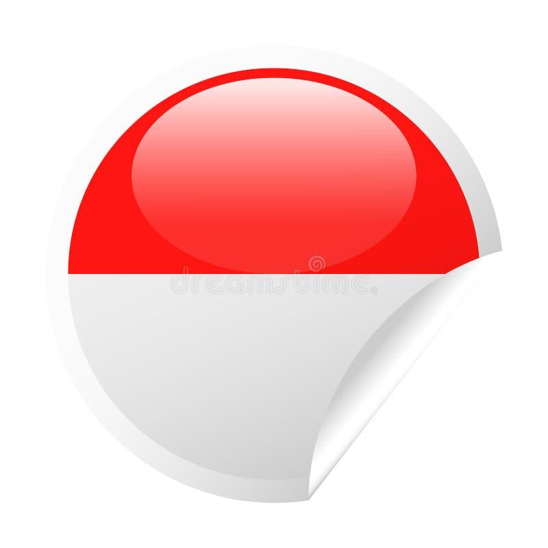 Symbol för papper för runt hörn för Monaco flaggavektor stock illustrationer