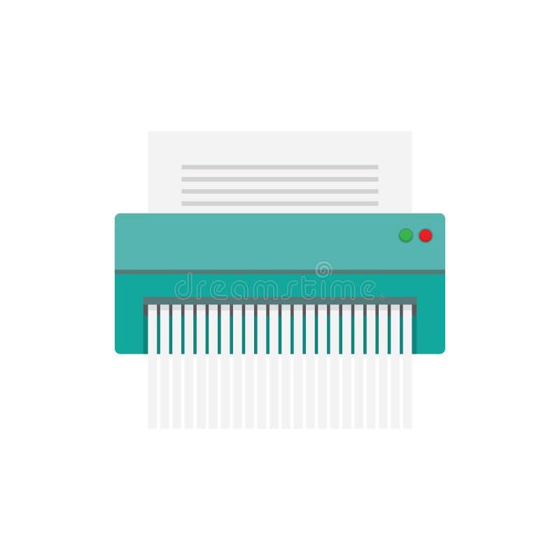 Symbol för pappers- dokumentförstörare royaltyfri illustrationer
