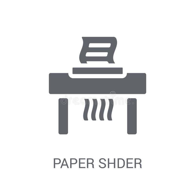 Symbol för pappers- dokumentförstörare  stock illustrationer