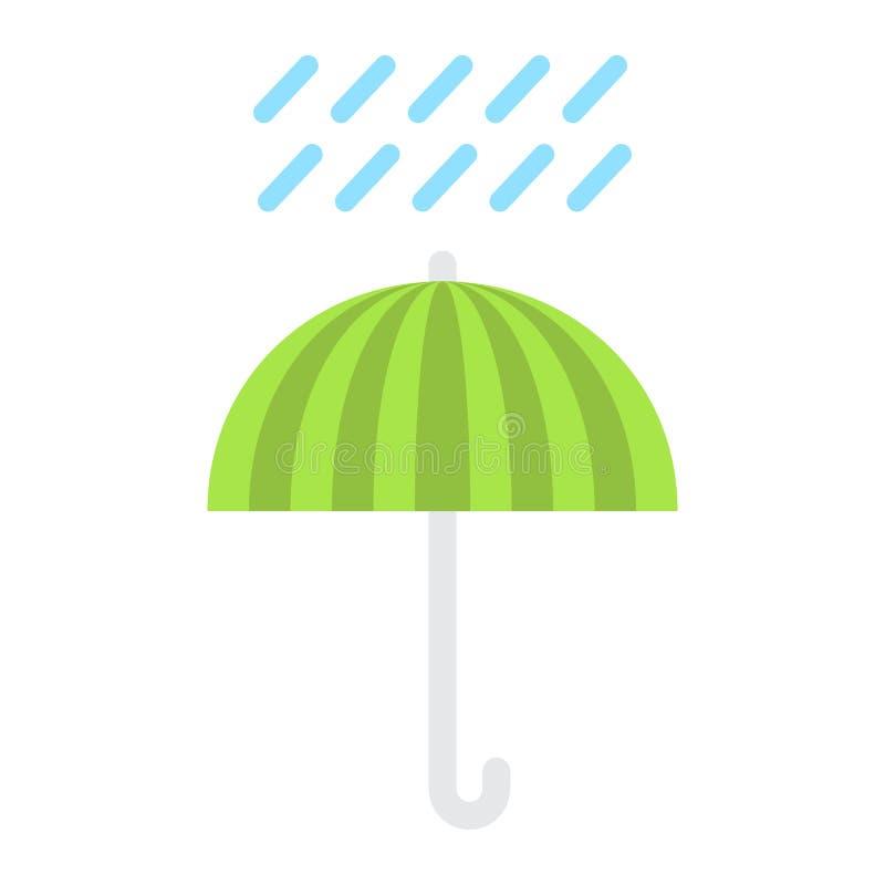Symbol för paraplysymbollägenhet som är logistisk stock illustrationer