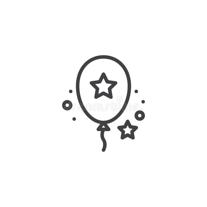 Symbol för partiballongöversikt royaltyfri illustrationer