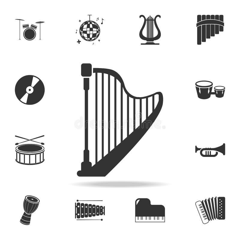 symbol för pausknapp Detaljerade uppsättningsymboler av symboler för beståndsdel för musikinstrument Högvärdig kvalitets- grafisk stock illustrationer
