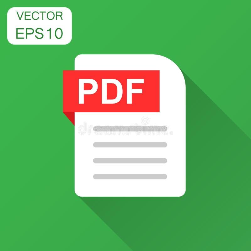 Symbol för Pdf-dokumentanmärkning i plan stil Pappers- arkvektorillustr vektor illustrationer
