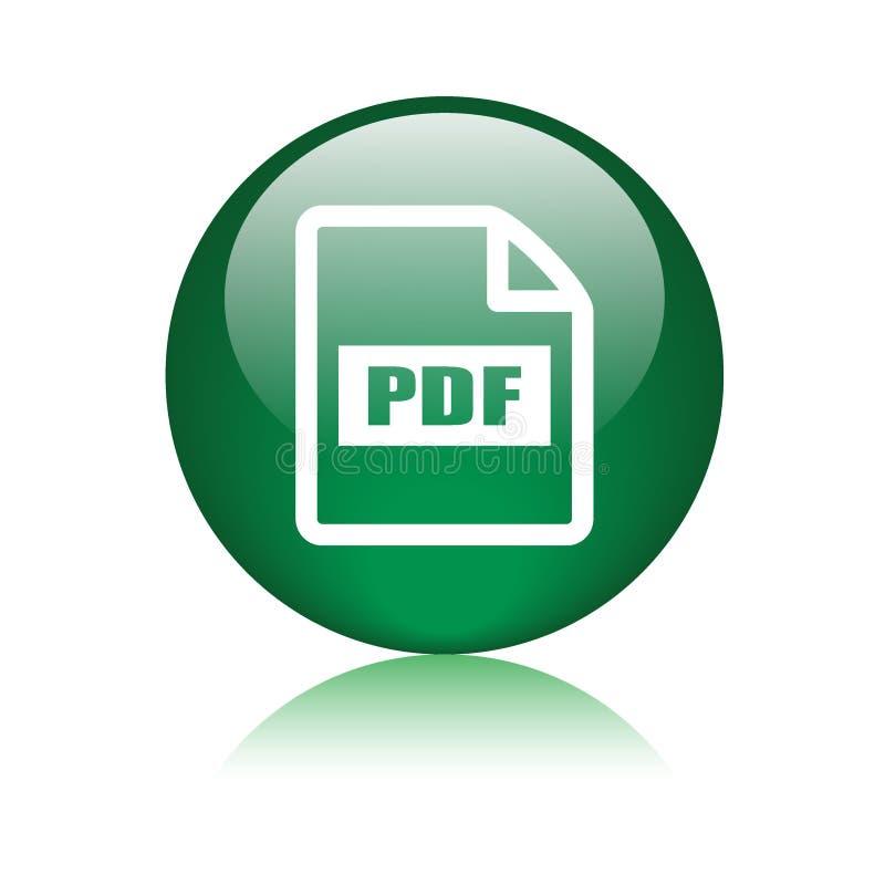 Symbol för Pdf-mappformat vektor illustrationer