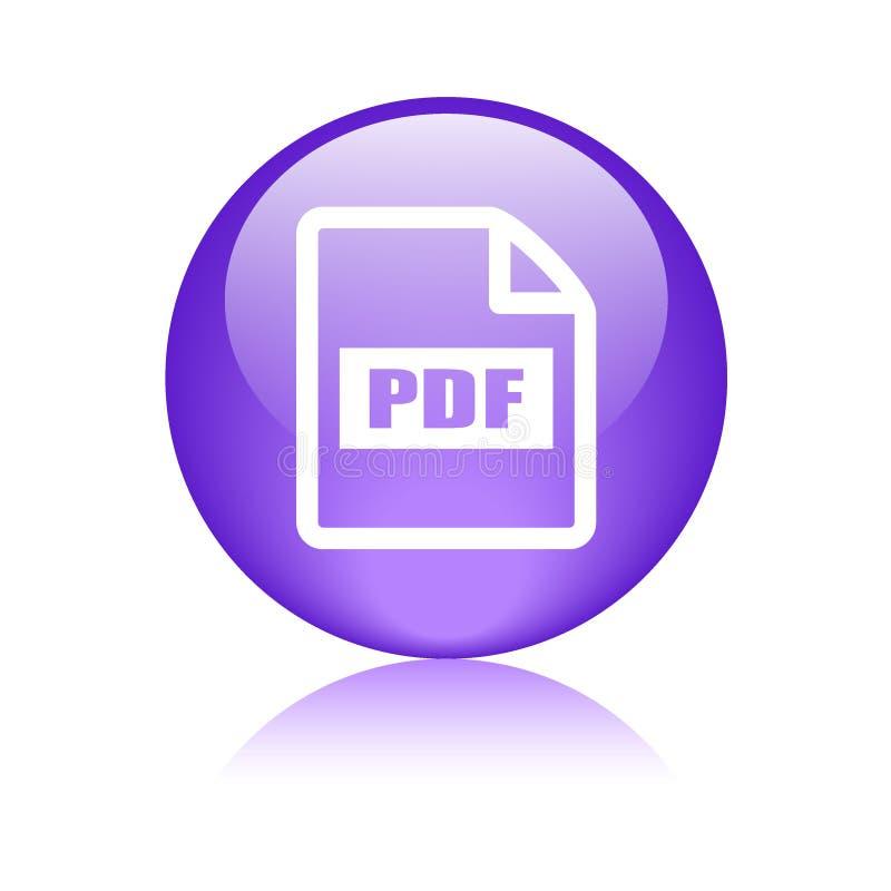 Symbol för Pdf-mappformat royaltyfri illustrationer