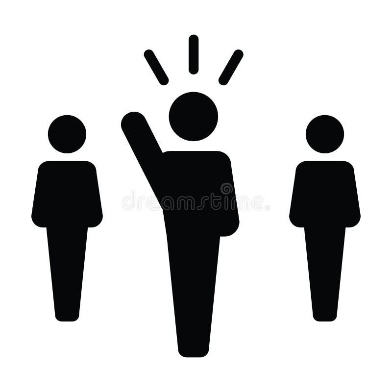 Symbol för person för offentlig högtalare för ledareIcon vektor manligt för ledarskap royaltyfri illustrationer