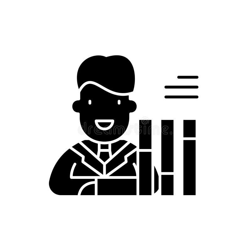 Symbol för personalsammanställningsrutasvart, vektortecken på isolerad bakgrund Symbol för personalsammanställningsrutabegrepp, i royaltyfri illustrationer