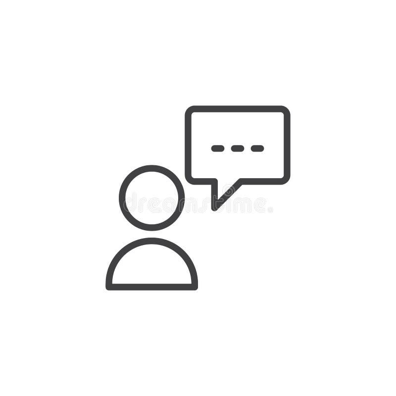 Symbol för personanförandeöversikt stock illustrationer