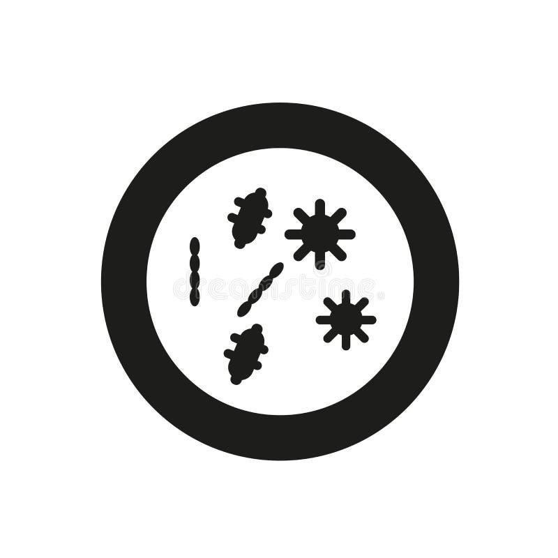 Symbol för Petri maträtt  vektor illustrationer