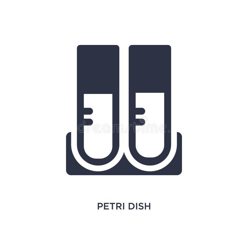 symbol för petri maträtt på vit bakgrund Enkel beståndsdelillustration från kemibegrepp vektor illustrationer