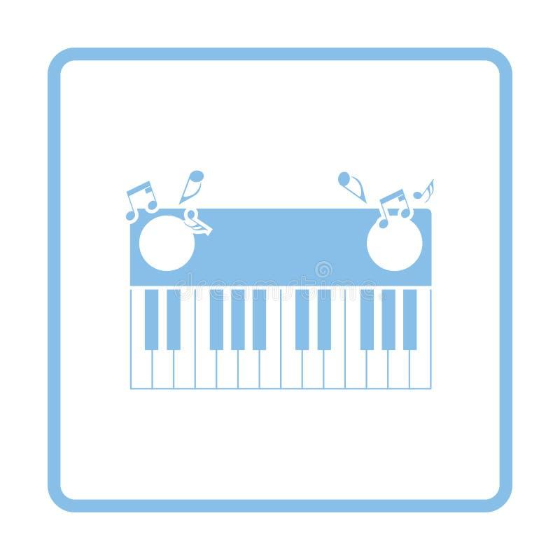 Symbol för pianotangentbord royaltyfri illustrationer