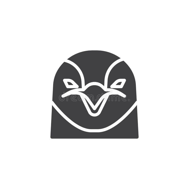 Symbol för pingvinhuvudvektor vektor illustrationer