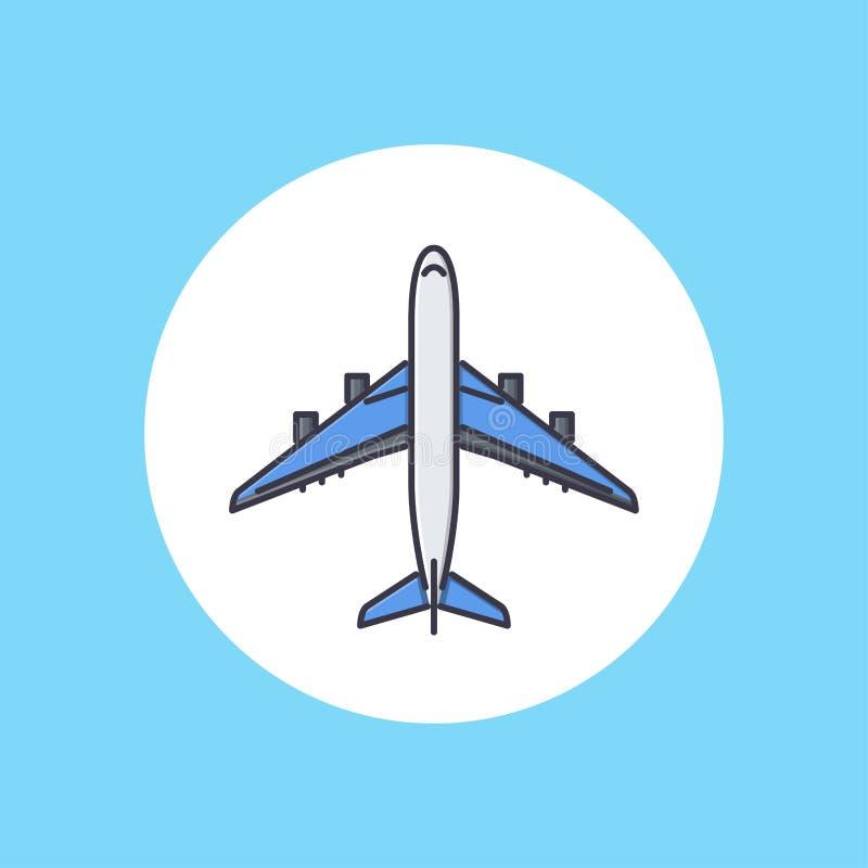 Symbol för plan vektor stock illustrationer