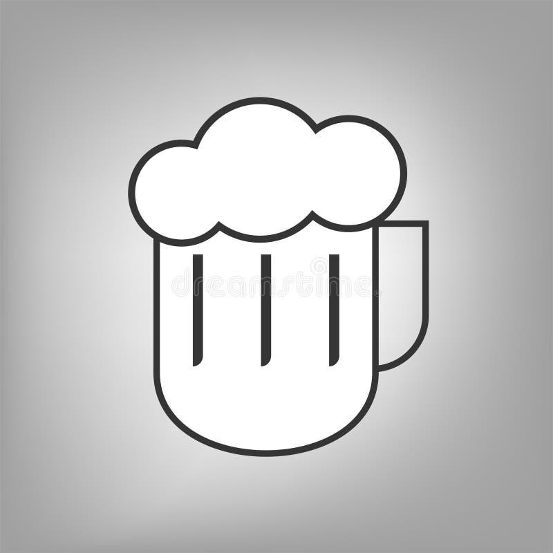 Symbol för plant öl stock illustrationer