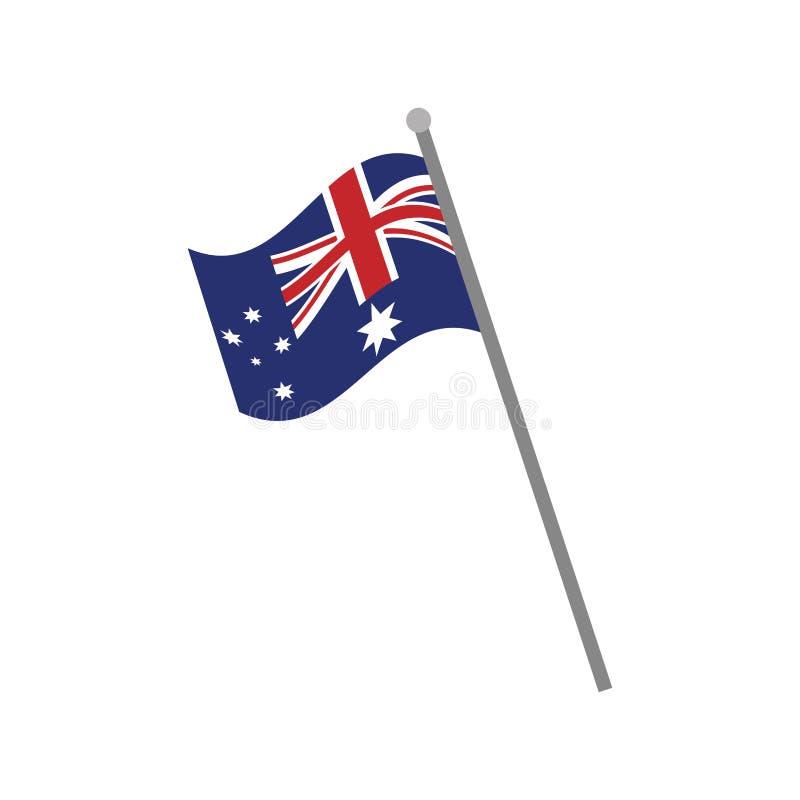 symbol för pol för Australien flagga nationell royaltyfri illustrationer