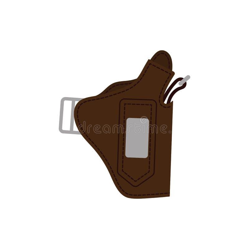 Symbol för polispistolhölstervapen royaltyfri illustrationer