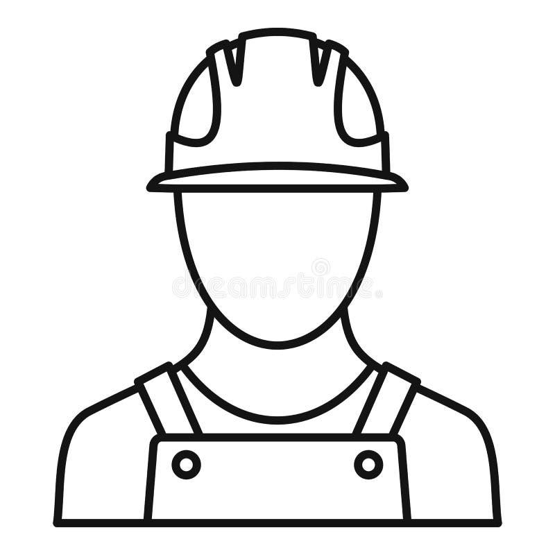Symbol för portlastarbetare, översiktsstil royaltyfri illustrationer