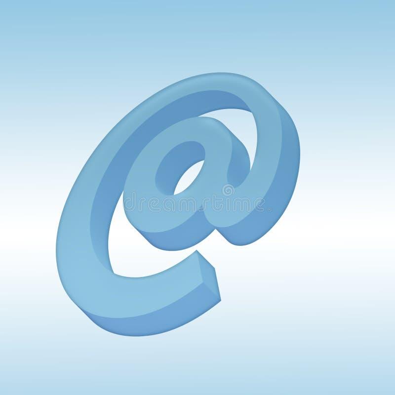 symbol för post 3d royaltyfri illustrationer