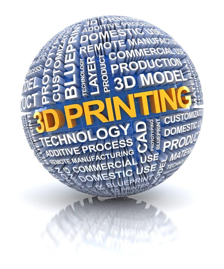 symbol för printing 3d vektor illustrationer