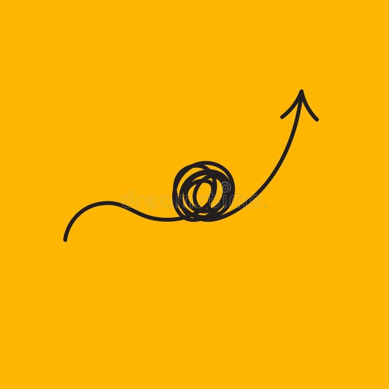 Symbol för problemlösning royaltyfri illustrationer