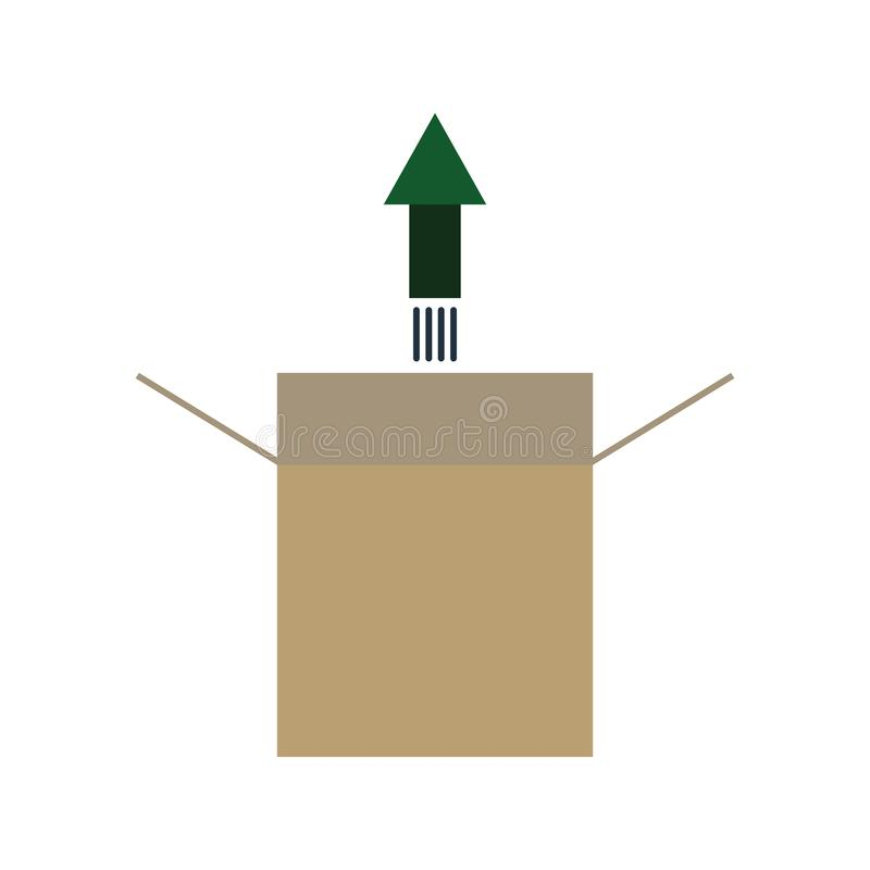 symbol för produktfrigörare stock illustrationer