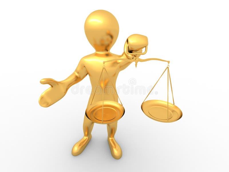 symbol för rättvisamanscale royaltyfri illustrationer