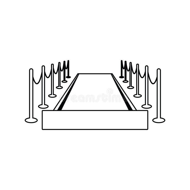 Symbol för röd matta vektor illustrationer