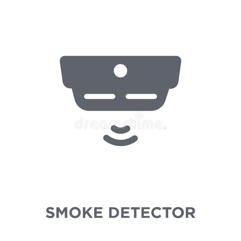 symbol för rökavkännare från samling för elektroniska apparater stock illustrationer