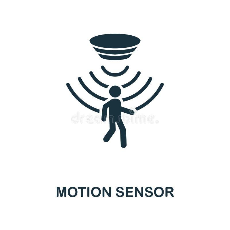 Symbol för rörelseavkännare Monokrom stildesign från avkännaresymbolssamling UI och UX För rörelseavkännare för PIXEL perfekt sym stock illustrationer