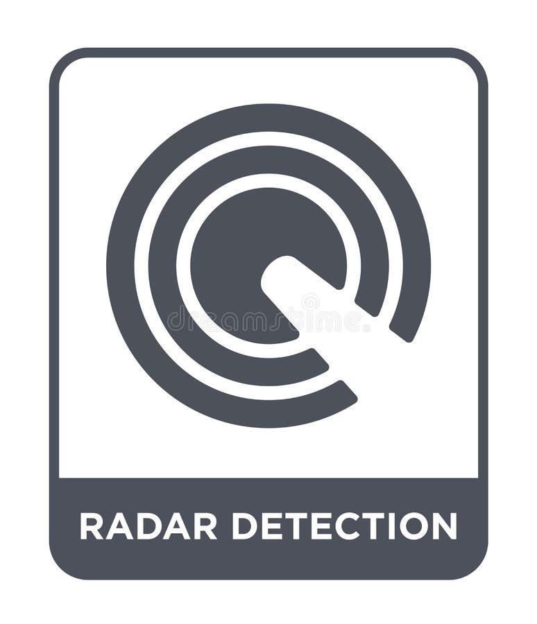 symbol för radarupptäckt i moderiktig designstil symbol för radarupptäckt som isoleras på vit bakgrund enkel symbol för vektor fö royaltyfri illustrationer