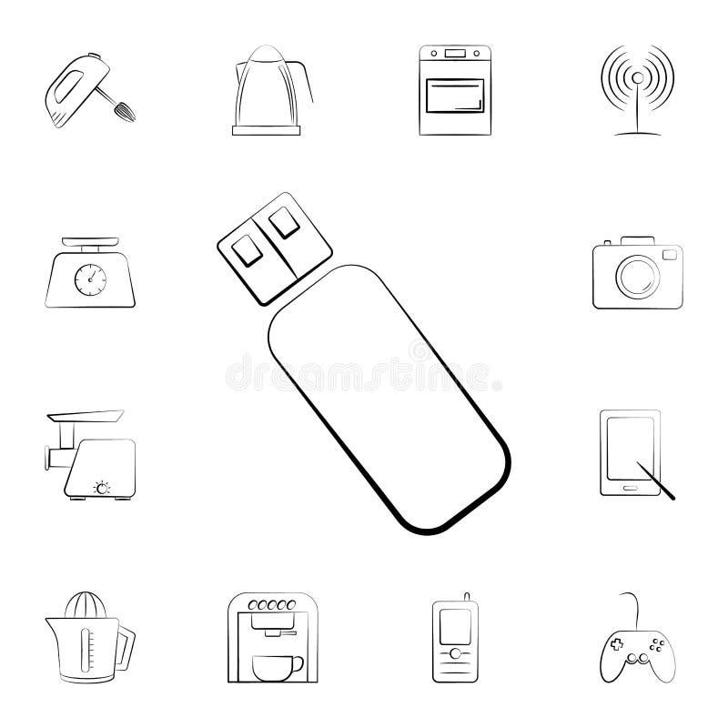 Symbol för radioantenn Detaljerad uppsättning av hem- anordningar Högvärdig grafisk design En av samlingssymbolerna för websites, royaltyfri illustrationer