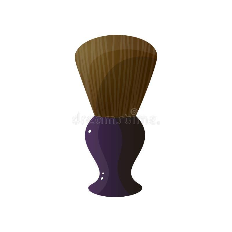 Symbol för raka borste för barberare som enkel isoleras på vit bakgrund vektor illustrationer