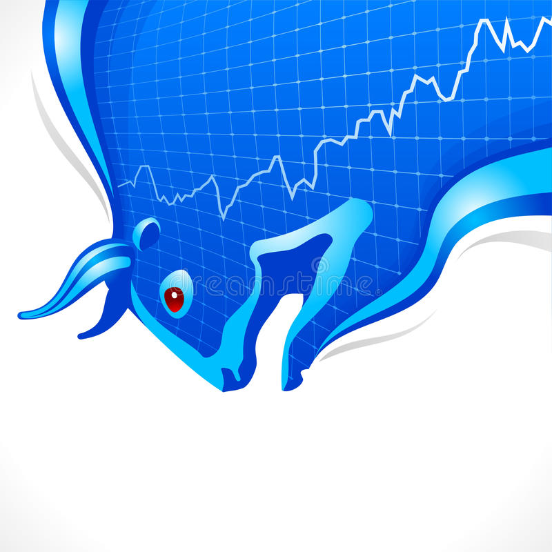 symbol för ram för tjuraffärsfinans stock illustrationer