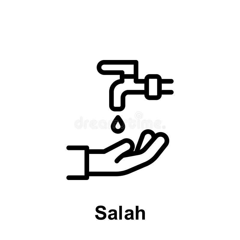 Symbol f?r Ramadansalah?versikt Best?ndsdel av symbolen f?r Ramadandagillustration Tecknet och symboler kan anv?ndas f?r reng?rin stock illustrationer