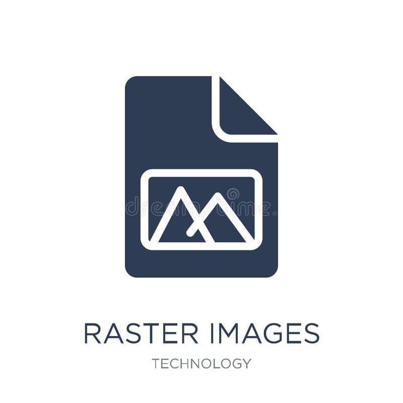 Symbol för rasterbilder Moderiktig plan symbol för vektorrasterbilder på whi royaltyfri illustrationer