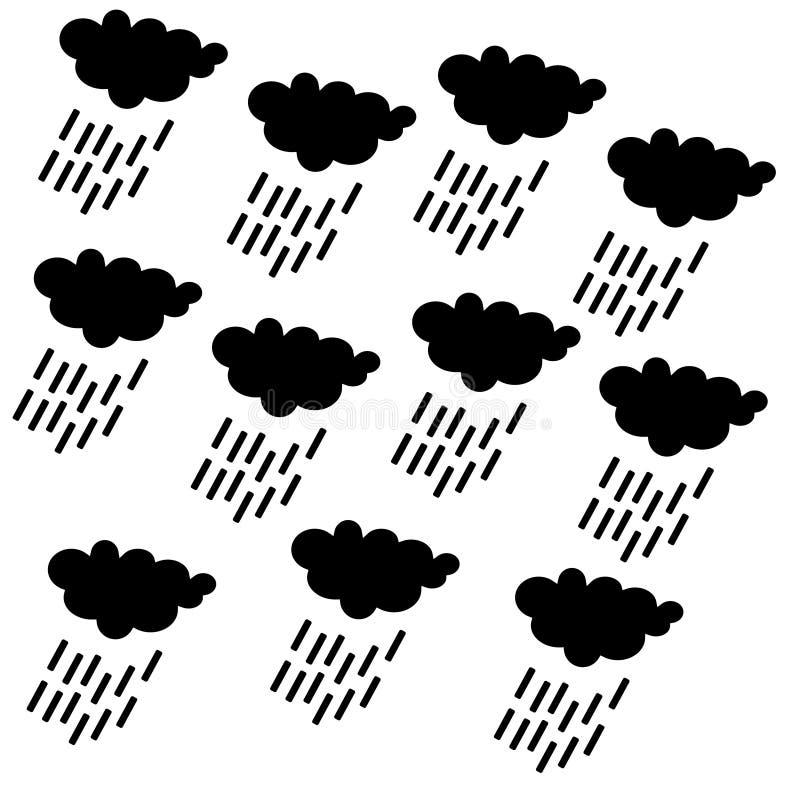 Symbol för regnmoln, SÖMLÖST GEOMETRISKT SMATTRANDE/BAKGRUNDSDESIGN abstrakt bakgrund Upprepa och redigerbar vektorillustration stock illustrationer