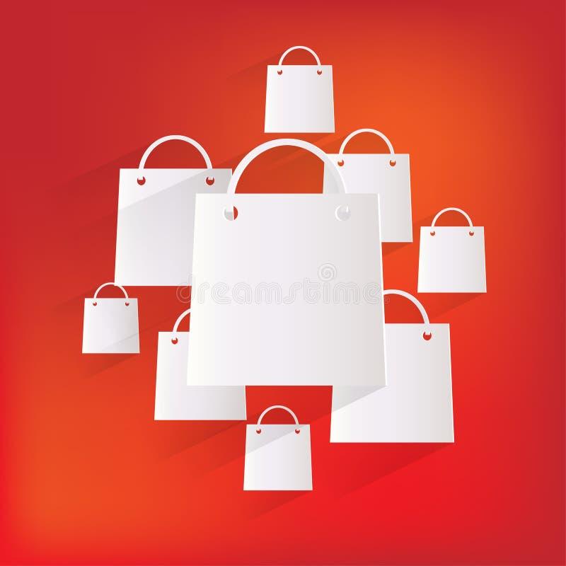 Symbol för rengöringsduk för shoppingpåse stock illustrationer