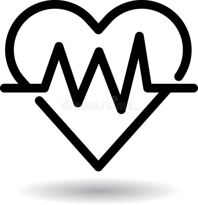 Symbol för rengöringsduk för hjärtatakt stock illustrationer