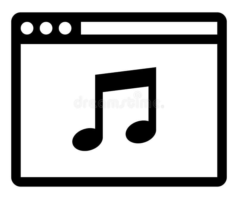 Symbol för rengöringsdukmusikspelare royaltyfri bild